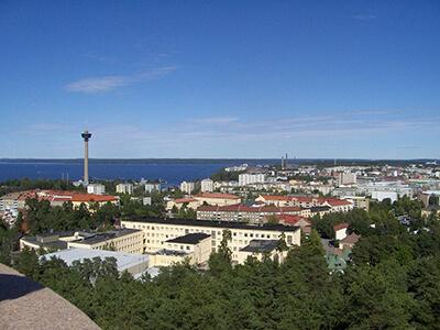 Nakyma Tampereesta Nasijarven suuntaan